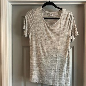 Old Navy Luxe Gray & White Shortsleeved Shirt (M)